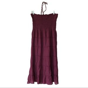 ATHLETA String Halter Strapless Summer Dress